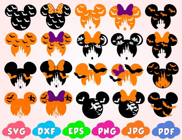 With about two weeks left until the big day, it's time to start planning your costume. Disney Halloween Svg Mickey Halloween Svg Halloween Mickey Svg Bundle1